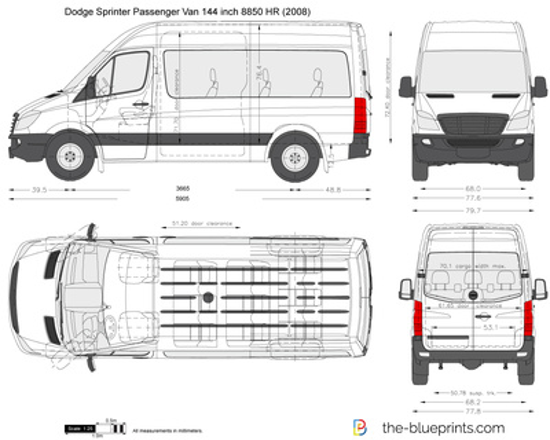 Dodge Sprinter Passenger Van 144 inch 8850 HR