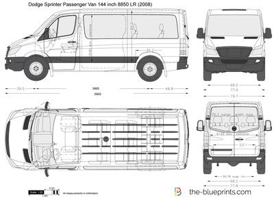 Dodge Sprinter Passenger Van 144 inch 8850 LR