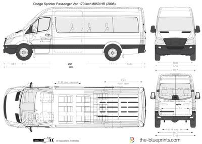 Dodge Sprinter Passenger Van 170 inch 8850 HR