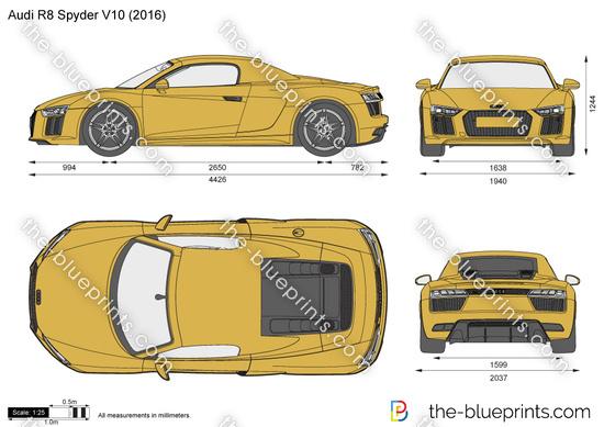 Audi r8 spyder v10 vector drawing audi r8 spyder v10 malvernweather Images