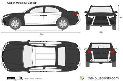 The blueprints vector drawing carbon motors e7 police car carbon motors e7 police car concept malvernweather Image collections