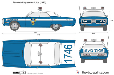 Plymouth Fury sedan Police