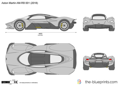 Aston Martin Am Rb 001 Vector Drawing