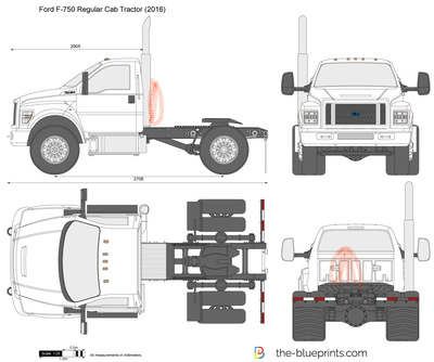 Ford F-750 Regular Cab Tractor