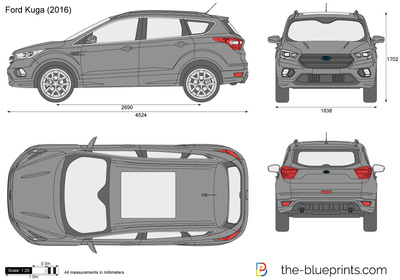 ford kuga vector drawing. Black Bedroom Furniture Sets. Home Design Ideas