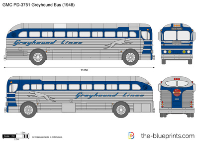GMC PD-3751 Greyhound Bus
