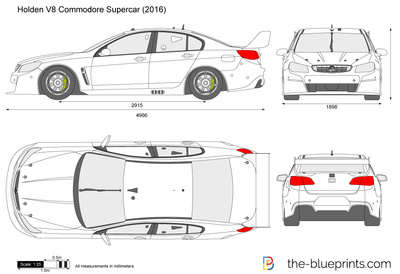The Blueprints Com Vector Drawing Holden Commodore Supercar