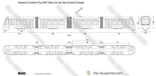 Siemens Combino Plus MST Metro Sul do Tejo Almada Portugal