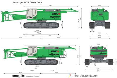 Sennebogen 2200E Crawler Crane