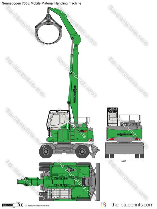Sennebogen 735E Mobile Material Handling machine