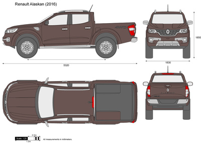 renault alaskan vector drawing. Black Bedroom Furniture Sets. Home Design Ideas