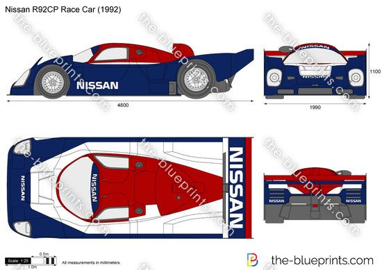 Nissan R92CP Race Car