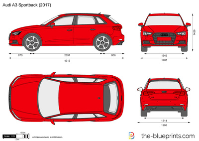 the vector drawing audi a3 sportback. Black Bedroom Furniture Sets. Home Design Ideas