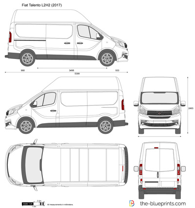 fiat talento l2h2 vector drawing. Black Bedroom Furniture Sets. Home Design Ideas