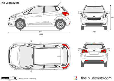 dimension kia venga dimensions of kia cars showing length width and height used 2012 kia venga. Black Bedroom Furniture Sets. Home Design Ideas