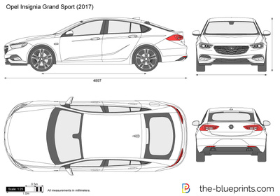 opel insignia grand sport vector drawing. Black Bedroom Furniture Sets. Home Design Ideas