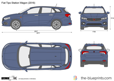fiat tipo station wagon vector drawing. Black Bedroom Furniture Sets. Home Design Ideas