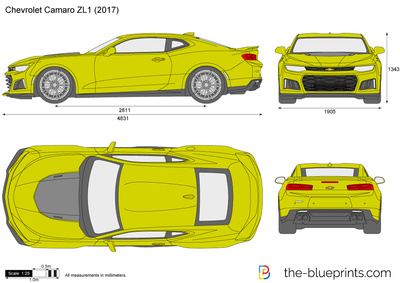 The-Blueprints.com - Vector Drawing - Chevrolet Camaro ZL1