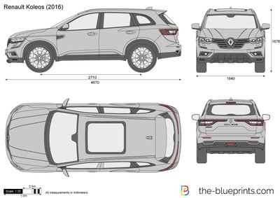 renault koleos vector drawing. Black Bedroom Furniture Sets. Home Design Ideas