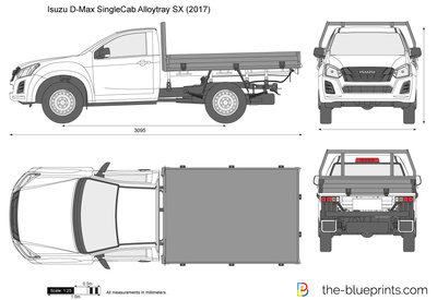 Isuzu D-Max Single Cab Alloytray SX