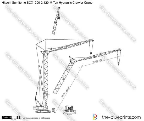 Hitachi Sumitomo SCX1200-2 120-M Ton Hydraulic Crawler Crane