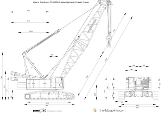 Hitachi Sumitomo SCX1200-2 Asian Hydraulic Crawler Crane