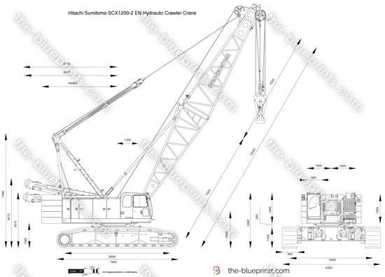 Hitachi Sumitomo SCX1200-2 EN Hydraulic Crawler Crane