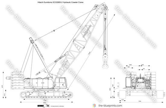 Hitachi Sumitomo SCX2800-2 Hydraulic Crawler Crane