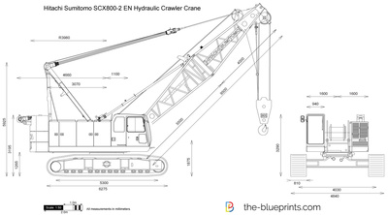 Hitachi Sumitomo SCX800-2 EN Hydraulic Crawler Crane