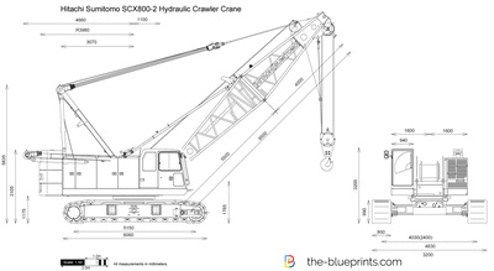Hitachi Sumitomo SCX800-2 Hydraulic Crawler Crane