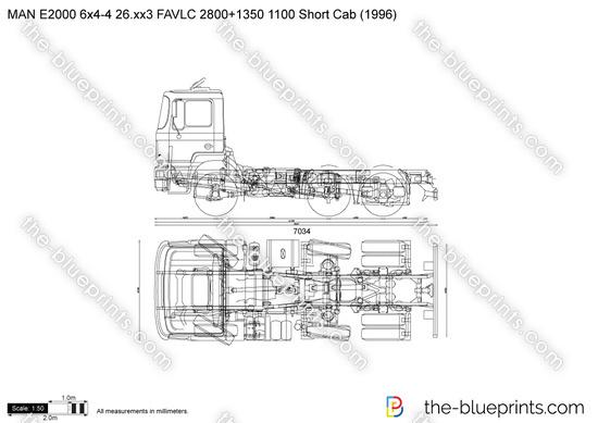 MAN E2000 6x4-4 26.xx3 FAVLC 2800+1350 1100 Short Cab