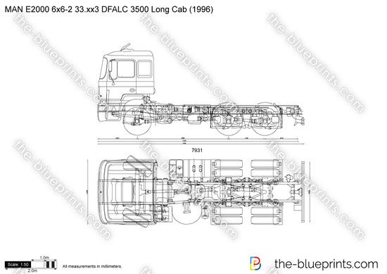 MAN E2000 6x6-2 33.xx3 DFALC 3500 Long Cab