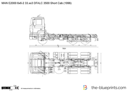 MAN E2000 6x6-2 33.xx3 DFALC 3500 Short Cab
