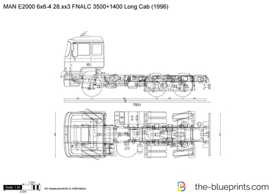 MAN E2000 6x6-4 28.xx3 FNALC 3500+1400 Long Cab