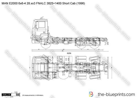 MAN E2000 6x6-4 28.xx3 FNALC 3825+1400 Short Cab