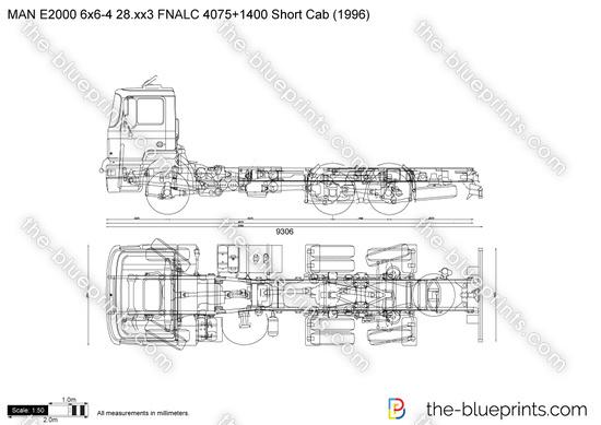 MAN E2000 6x6-4 28.xx3 FNALC 4075+1400 Short Cab