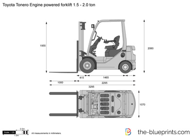 Toyota Tonero Engine powered forklift 1.5 - 2.0 ton