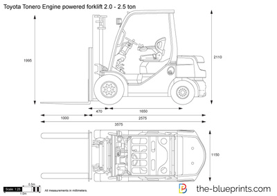 Toyota Tonero Engine powered forklift 2.0 - 2.5 ton