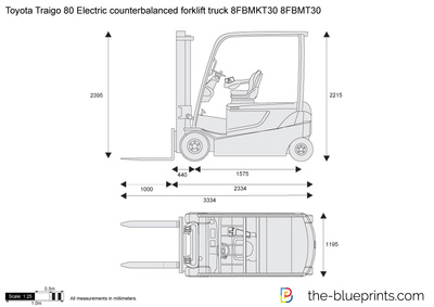 Toyota Traigo 80 Electric counterbalanced forklift truck 8FBMKT30 8FBMT30