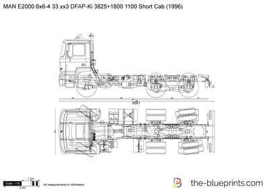 MAN E2000 6x6-4 33.xx3 DFAP-Ki 3825+1800 1100 Short Cab