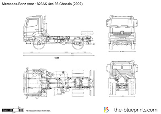 Mercedes-Benz Axor 1823AK 4x4 36 Chassis