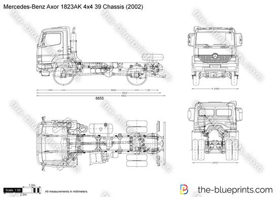 Mercedes-Benz Axor 1823AK 4x4 39 Chassis