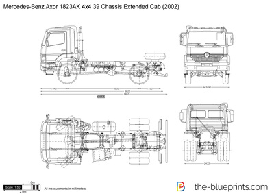 Mercedes-Benz Axor 1823AK 4x4 39 Chassis Extended Cab