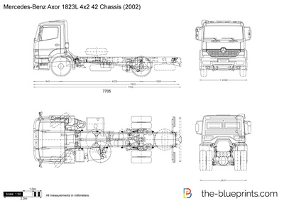 Mercedes-Benz Axor 1823L 4x2 42 Chassis