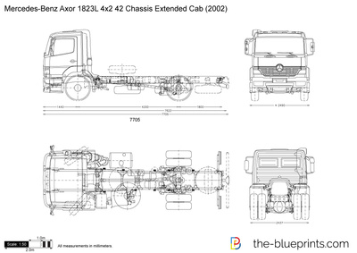 Mercedes-Benz Axor 1823L 4x2 42 Chassis Extended Cab
