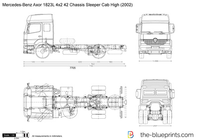 Mercedes-Benz Axor 1823L 4x2 42 Chassis Sleeper Cab High