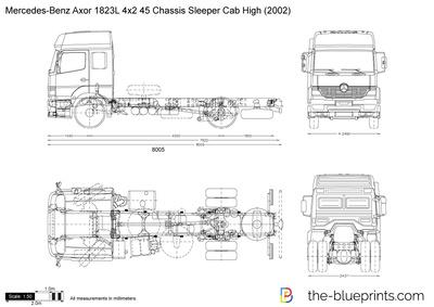 Mercedes-Benz Axor 1823L 4x2 45 Chassis Sleeper Cab High (2002)