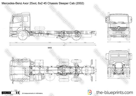 Mercedes-Benz Axor 25xxL 6x2 45 Chassis Sleeper Cab