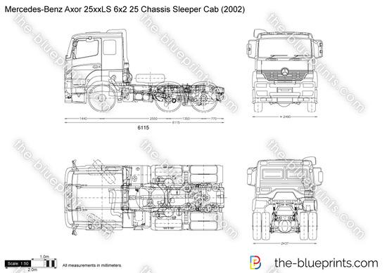 Mercedes-Benz Axor 25xxLS 6x2 25 Chassis Sleeper Cab