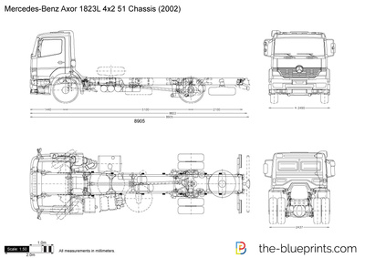 Mercedes-Benz Axor 1823L 4x2 51 Chassis